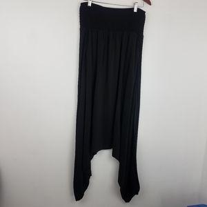 Eileen Fisher   100% Silk Harem Pants Black Baggy